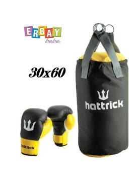 HATTRİCK JUNİOR BOKS TORBASI ELDİVENLİ SET 30X60 CM