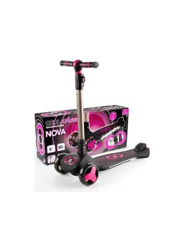 Cool Wheels Nova 6 + Yaş ışıklı Scooter Pembe