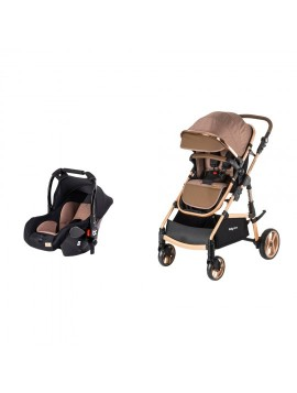 Baby Care BC330 Safari Cross Travel Sistem Bebek Arabası Kahve